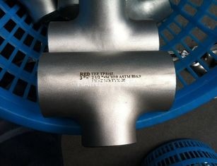 China ASTM A403 Pipe Fittings Forged Alloy Steel / stainless steel equal tee ,304L 316L 310S 904L 2205 supplier