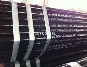 China Black Paint Printed API 5L Gr.B 42.2 mm x 3.56 mm x 5.8M Seamless / LSAW / SSAW Pipe supplier