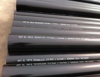 China OD 273.1 mm X W.T 12.7 mm X L 12000 mm API 5L Gr.B Carbon Steel Seamless Pipe,Black Paint Coated,Plain End distributor