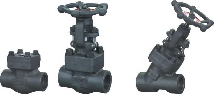 Medium Pressure Forged Steel Gate Valve NPT End , 800LB / 1500LB
